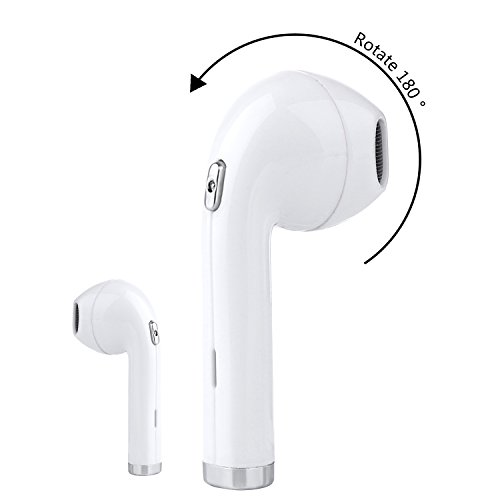 Bluetooth Headset, Rapidtronic I8 Mini Wireless Earbud Earpiece with Mic, Hands Free Noise Cancelling for iPhone X 8 8plus 7 7plus 6S Samsung Galaxy S7 S8 IOS Android SmartPhones(one earbud)