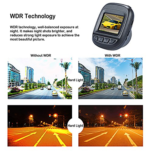 Dash Cam by Fliiners Mini LCD Car Dvr Camera Recorder with FHD 1080P, Night Vision, Loop Recording for Cars