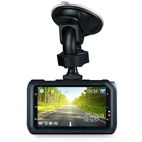 Z-Edge Z3 3″ Screen 2K 2560 x 1080 Ultra HD Car Dash Camera 145 Deg Wide Angle Lens Dash Cams with Ambarella Chip, 32GB SD Card Included, WDR Enhance Night Vision, G-Sensor, Parking Monitor