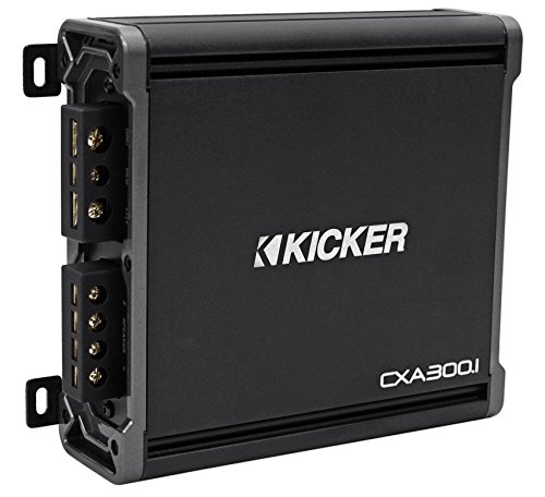Package: Kicker 43CXA3001 300 Watt RMS Class D Car Amplifier + Kicker 43CXARC Remote Control For CX or PX SERIES Car Amplifiers + Rockville RWK81 8 Gauge 2 Channel Complete Wire Kit With RCA Cable