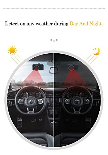 Fatigue driving warning device,XINDA Anti Alarm device blinking detection Facial Reading Beep and Vibration Doze Alert Motion Detection Drive Assistant Dangerous Driving Warning System
