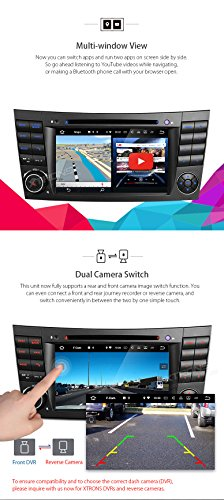 XTRONS HDMI Android 7.1 Quad Core 7 Inch HD Digital Touch Screen Car Stereo Radio DVD Player GPS for Mercedes Benz E-Class W211