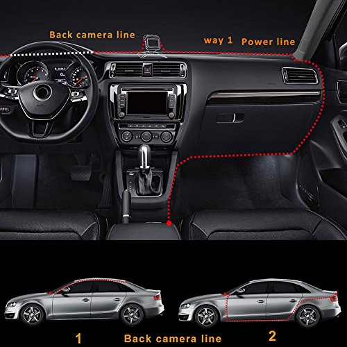 Car Camera Front and Rear, Full HD 1296P Dual View Dash Cam 140°Wide Angle Dashboard Camera with Infrared Night Vision, WDR, Motion Detection, Parking Monitor, G-sensor, Loop Recording