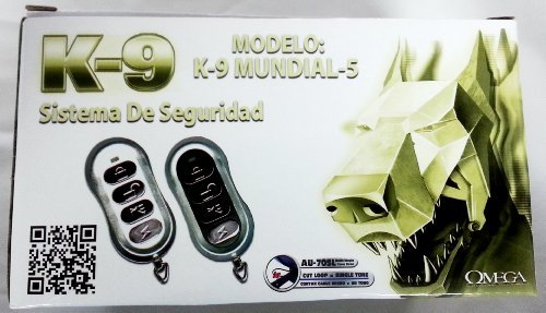 K9-MUNDIAL-5 Vehicle Security & Keyless Entry System w/ Anti-Carjack