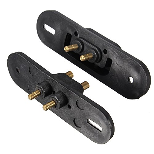Funnytoday365 2Pcs Black Sliding Door Contact Switch For Van Central Locking Systems Car Alarm