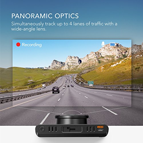 Roav by Anker Dash Cam C2, FHD 1080P, 3″ LCD, 4-Lane Wide-Angle View Lens, G-Sensor, WDR, Loop Recording, Night Mode, 2-Port Charger, No Wifi or APP