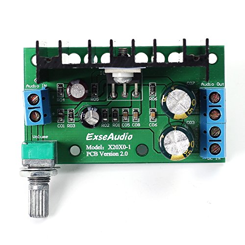 Icstation TDA2050 25W Mini Mono Digital Audio Amplifier Power Amp Board with Volume Adjustable Knob