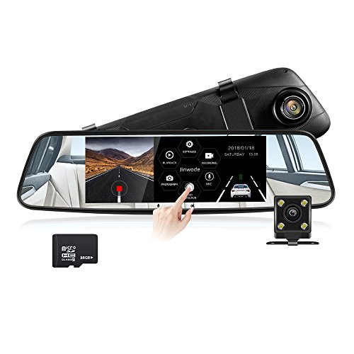 Dash Cam,7inch Touch Display Car Camera,Dual Lens Video Night Vision Driving Recorder Camera, 150 Degree Wide Lens Car Cam With G-Sensor Loop Recording Parking Monitoring,16GB SD Card Included