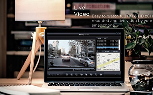 BlackSys CH-100B 2 Channel 1080P FULL HD Front and Rear Pro Wide Angle Dashboard Recorder   Dash Cam With G-Sensor + Up to 128gb Memory   Car Parking Mode   Wifi App