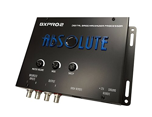 Absolute USA BXPRO2 Digital Bass Maximizer Processor with Dash Mount Remote Control