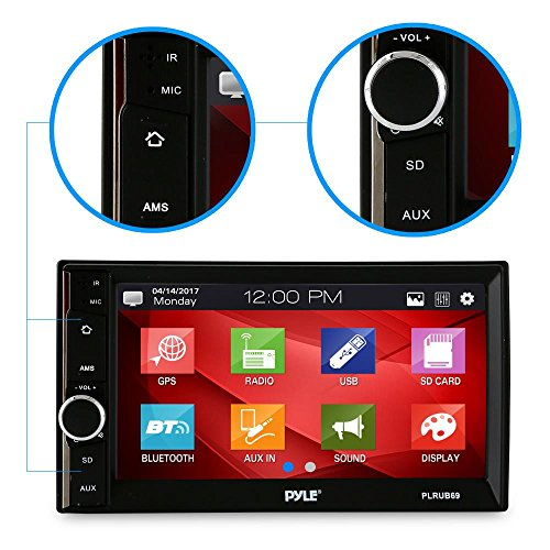 Pyle Car Audio Radio Receiver | Double Din Car Stereo | 6.5″ TouchScreen | Bluetooth Audio Receiver | Wireless Streaming | Microphone | Handsfree | USB/SD Memory Card | AUX/MP3 Input | (PLRUB69)