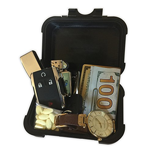 Monster Magnetics MiniMag Plus Larger Sized Magnetic Stash Box – All-Weather Hide A Key, Locker Box, Magnet-Mount Geocaching Container, Under-Car GPS Tracker Holder – Easily Hide Your Stuff Anywhere!