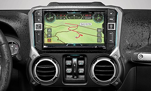 Alpine Electronics X209-WRA-OR 9″ Restyle Navigation System with Off-Road Mode & Apple CarPlay & Android Auto for The Jeep Wrangler (2011-2018)