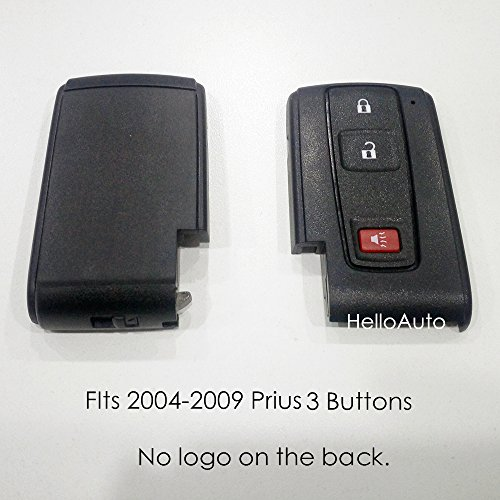 Toyota Prius Key Fob Cover Case Shell Replacment with Blank Key 2004-2009