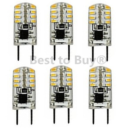 Best to Buy 6-pack LED-GY6.35-SHORT-120V Replacement LED Light Bulb DAYwhite
