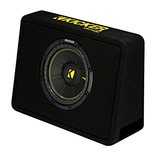 Kicker 44TCWC102 10″ 600W Subwoofer Box+Boss AR1500M 1500W Mono Amp +Amp Kit