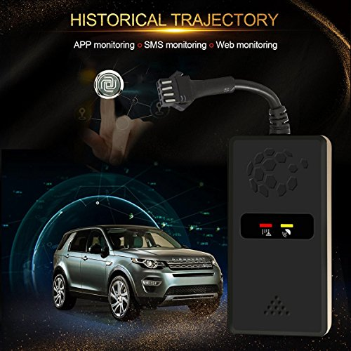 GPS Tracker, Viflykoo No Monthly Fee Mini Car GPS Tracker Real Time Locator for Vehicle Car Motorcycle, Free APP for Android & IOS System