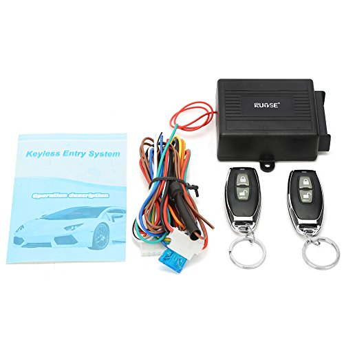 Rupse Car Keyless Entry System Alarm System with Remote Central Locking Power/Pneumatic Window UP/Down and Power Trunk