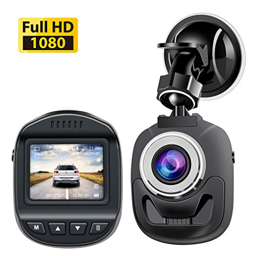 Accfly Mini Dash Cam 1080P, Car Camera 120 Degree Wide Angle Lens Digital Car Dashboard Camera Driving Video Recorder WDR, Loop Recording, Motion Detection G-Sensor