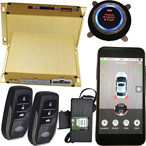 GSM Car Alarm System With Passwords Keyless Entry And GPS Online Tracking