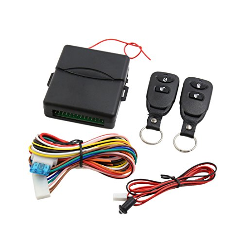 uxcell Universal Black Car Auto Remote Central Kit Door Lock Keyless Entry System
