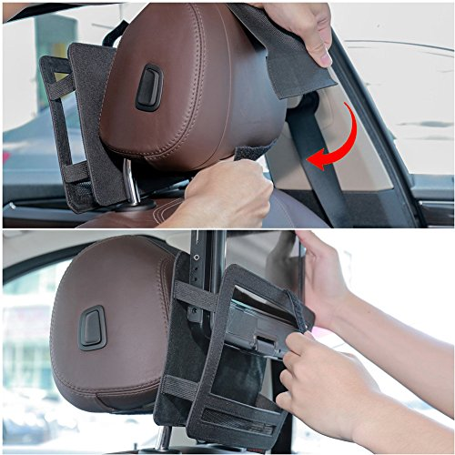 Zuggear Car Headrest Mount Holder Strap Case for Swivel and Flip Style Portable DVD Player – 9 Inch to 9.5 Inch