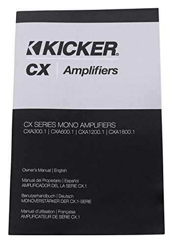 Kicker 43CXA12001 CXA1200.1 1200 Watt RMS Mono Car Audio Amplifier+Amp Wire Kit