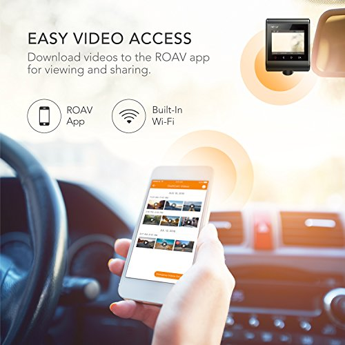 Roav by Anker Dash Cam C1 Pro, 2K Resolution 2560X1440, Built-In GPS/WiFi, 2.4″ LCD, 4-Lane Wide-Angle View Lens, G-Sensor, WDR, Loop Recording, 2-Port Charger, 32G microSD Card, Easy Sharing