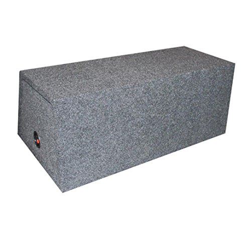 Q Power BASS12 Dual 12-Inch Sealed Angled Subwoofer Enclosure Box