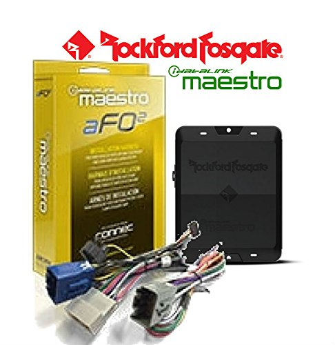 Rockford Fosgate DSR1 8-Channel Interactive Signal Processorw/ ADS HRN-AR-FO2 Integrated iDatalink Maestro Module with T Harness for Select Ford Vehicles and a SOTS Lanyard