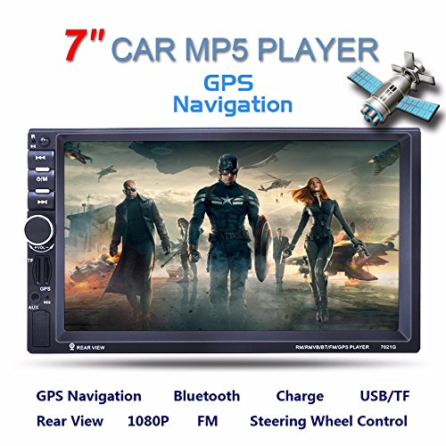 Fosa Audio 7021G Double Din, Touchscreen, Bluetooth, Navigation,Digital LCD Monitor 7″ Bluetooth Car Video MP3 MP5 Player GPS Navigation Touch Screen FM Radio Rear-View Monitor