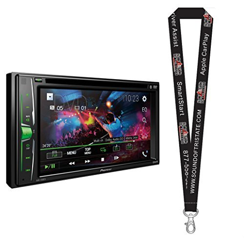 Pioneer AVH-201EX DVD Receiver w/ 6.2″ WVGA Display, Built in Bluetooth, iPod, and Android Compatibility with a Remote Control and a SOTS Lanyard