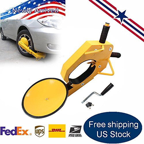 LYNICESHOP Wheel Locks Clamp Boot Tire Claw Trailer Auto Car,Truck Boat Trailer Anti-theft Towing
