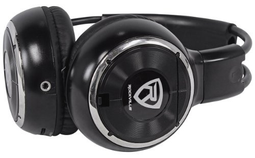 Rockville RFH3 Wireless Universal Infrared IR Headphones for Any Car Monitor – Black