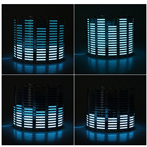 Signstek Sound Music Beat Activated Car Stickers Equalizer Glow Blue LED Light Audio Voice Rhythm Lamp