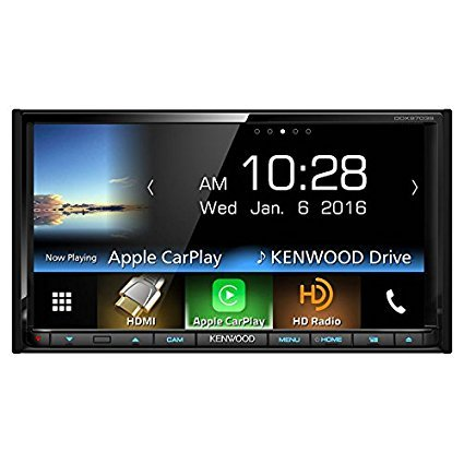 Kenwood DDX9703S 2-DIN In-Dash DVD/CD/AM/FM Car Stereo w/ 6.95″ Touch Screen with Built-in HD Radio, Apple Carplay and Android Auto