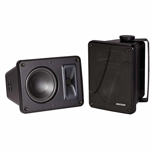 Kicker KB6000 6.5″ Full Range Indoor/Outdoor/Marine Speakers – Black 11KB6000B