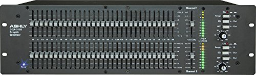 Ashly GQX-3102 2 Channel 1/3 Octave Graphic Equalizer