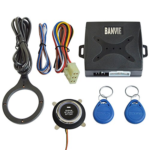 BANVIE Car RFID Immobilizer Hidden Lock System with Keyless Go Engine Start Stop Push Button for Vehicle Double Layer Start Protection