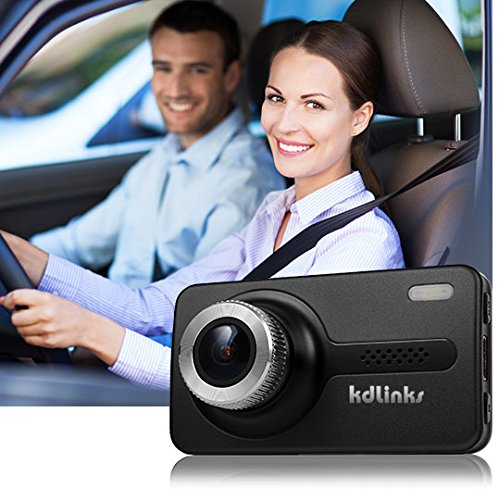 KDLINKS X1 GPS Enabled Full HD 1920×1080 165 Degree Wide Angle Dashboard Camera Recorder Car Dash Cam with Gravity Sensor, WDR Superior Night Model