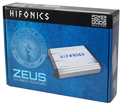 Hifonics Zeus ZXX-1800.1D 1800W RMS Mono Class D Car Audio Amplifier+Amp Kit