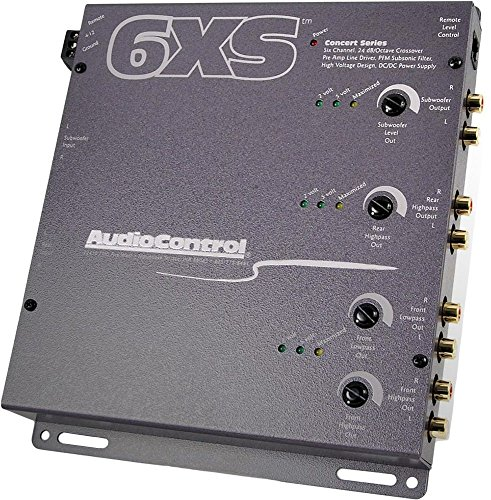 6XS – AudioControl 6 Channel Electronic Crossover W/ Wired Bass Remote