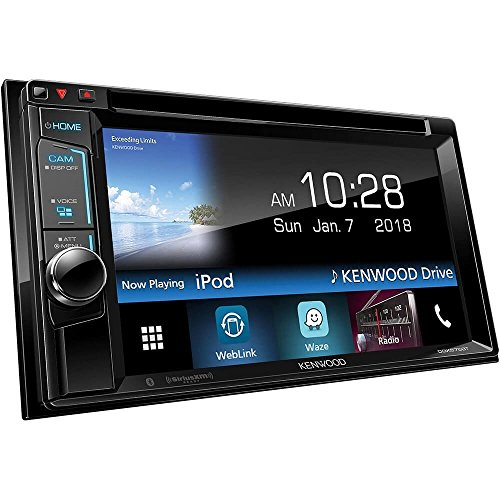 Kenwood DDX575BT In-Dash 2-DIN 6.2″ Touchscreen DVD Receiver with Waze, Spotify, Pandora, and YouTube Integration via Weblink
