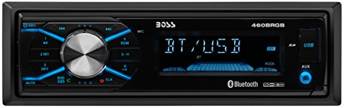 BOSS Audio Elite 460BRGB Single Din, Bluetooth, MP3 USB/SD AM/FM Receiver, Wireless Remote (No CD/DVD Player)