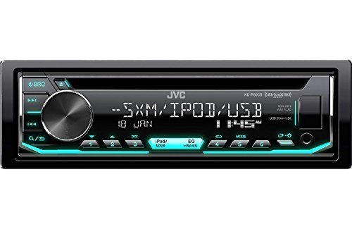 JVC Car CD Player Receiver USB AUX Radio – Bundle Combo with SiriusXM SXV300v1 Satellite Radio Connect Vehicle Tuner Kit