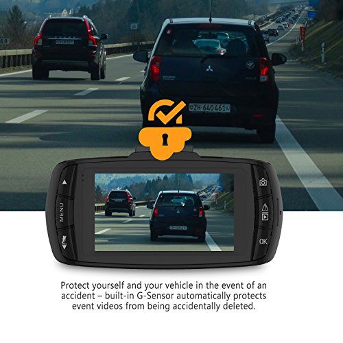 Z-EDGE Z4 2K Dash Cam, Super HD 2560×1080 Dashboard Camera Recorder with Ambarella Chip, 16GB TF Card Included, HDR & Night Vision, 150° Wide Angle, Loop Recording, G-Sensor and Parking Monitor
