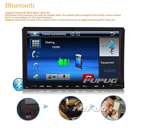 Backup Camera 7 Bluetooth Inch In Dash Touchscreen Video Car DVD Video Video Player Steering Wheel CD DVD Control Bluetooth for Steraming Head Unit Music Windows UI Car Mp3 Mp4 Stereo Audio Auto