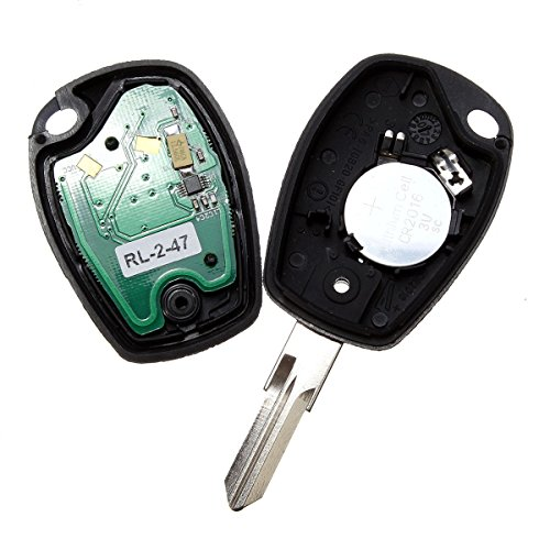 Funnytoday365 Full Remote Key 433Mhz 2 Buttons Keyless Entry Fob For Renault Megane Modus Clio Kangoo Logan Sandero Duster Car Alarm