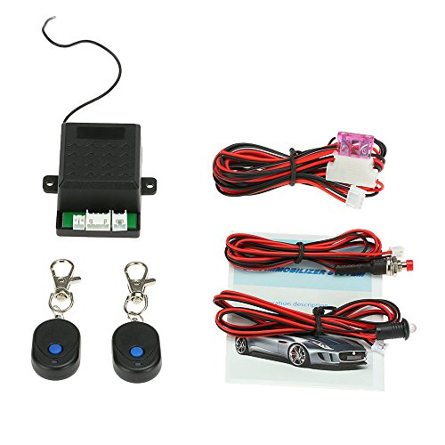 KKmoon Universal Car Immobilizer Anti Theft Security System Alarm Protection with 2 Remote Controller