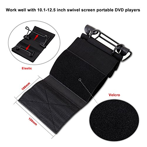 CUTRIP Car Headrest Mount Holder for 10.1-12.5 Inch Swivel Screen Portable DVD Players, for CUtrip 10.1 Inch Portable Blu-ray DVD Player